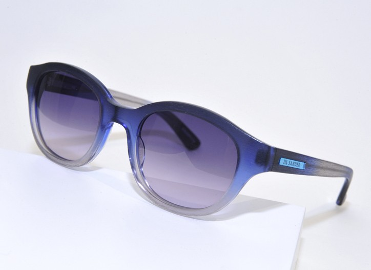 Degrade blue shades from Jil Sander's new sunglasses line.