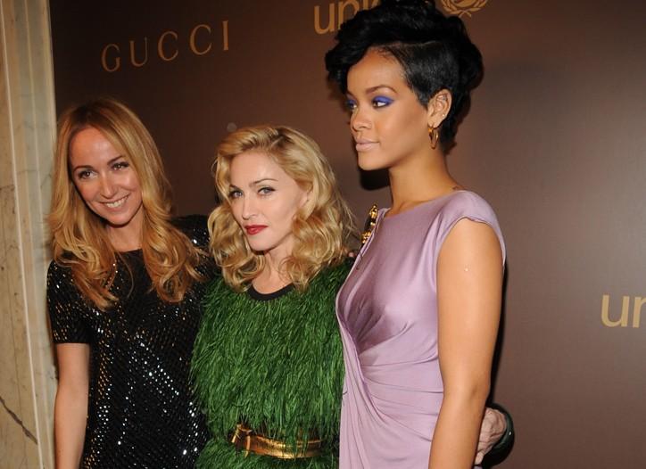 Frida Giannini, Madonna and Rihanna.