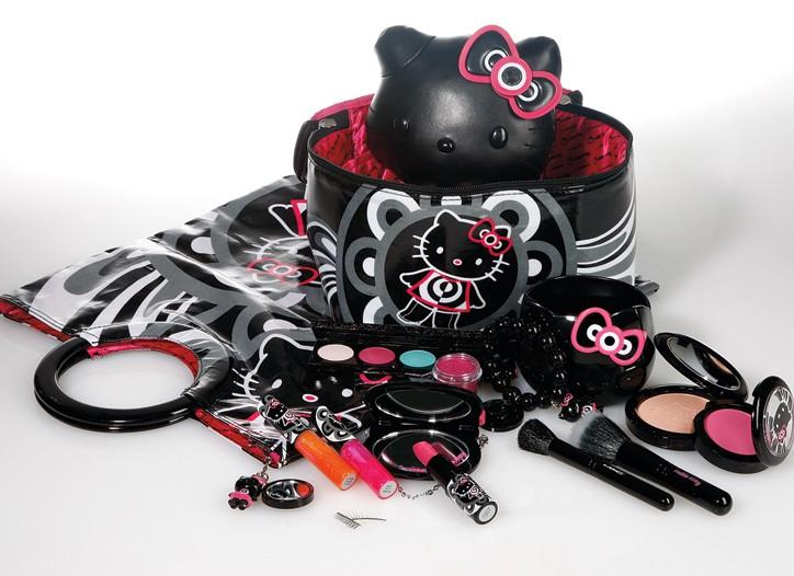 Hello Kitty items from MAC Cosmetics.