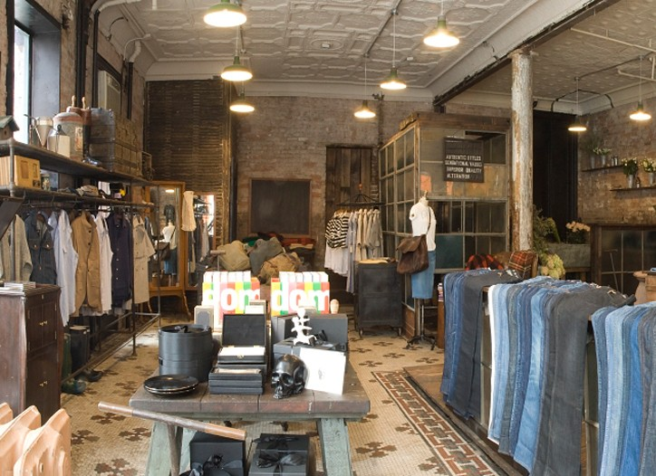 Inside the Ernest Sewn boutique on Orchard Street in New York.