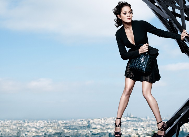 Marion Cotillard in the Lady Dior ad.