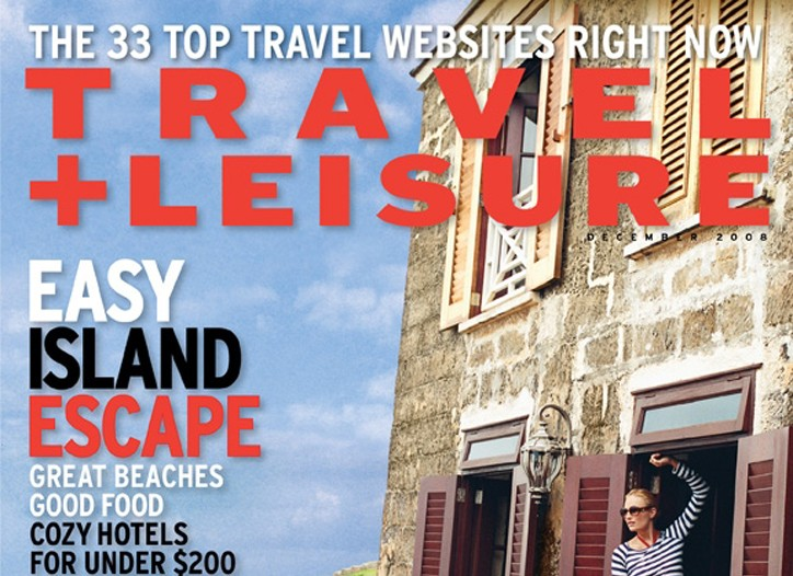 December cover of Travel + Leisure.