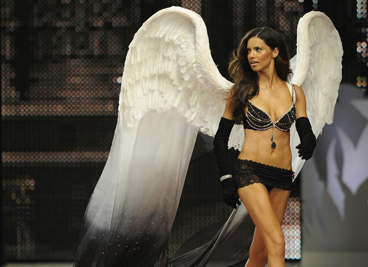 Adriana Lima on the runway at the 2008 Victoria's Secret fashion show.