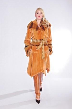 A fur coat by Dino Gaspari.