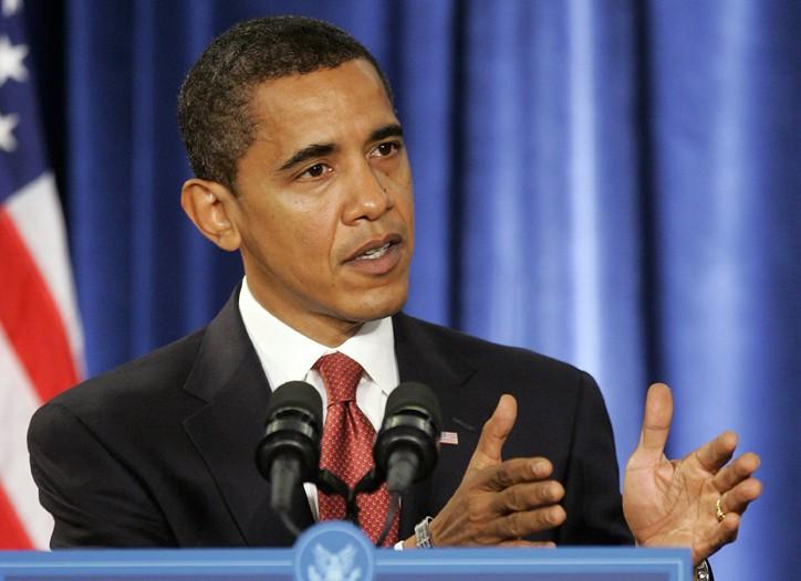 Barack Obama in Chicago on Monday.