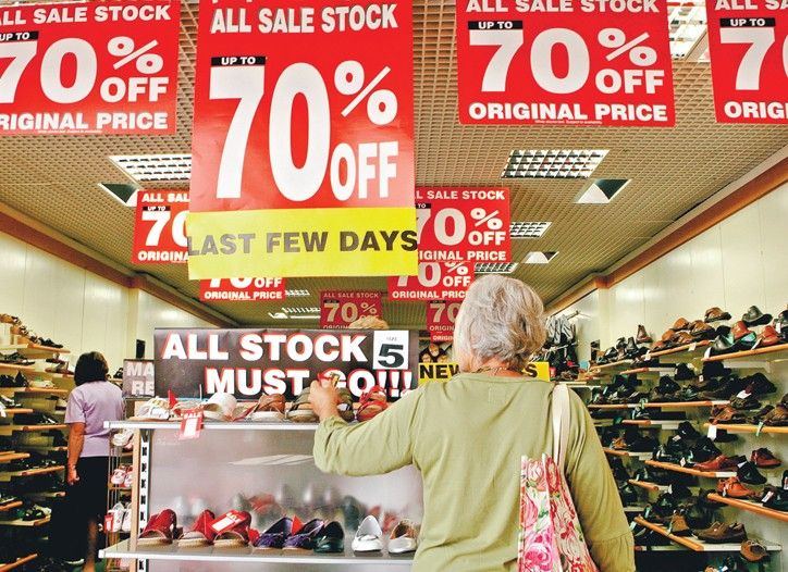 Apparel prices fell 2.2 percent in October.