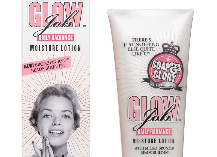 Glow Job moisturizing lotion.