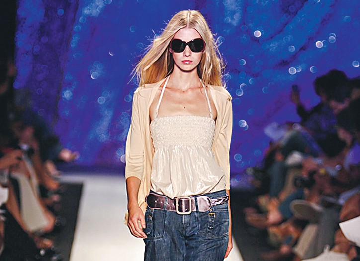 A look from the runway by Miss Sixty.