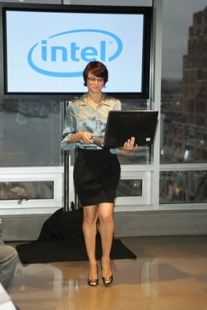 Intel held a technology fashion show for the media in New York last week that paired nine new devices based on Intel technology with the appropriate characters and outfits.