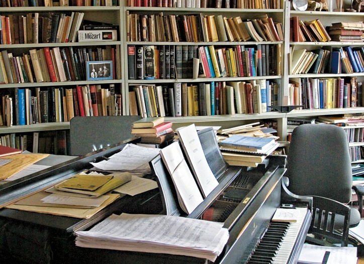 Elliott Carter's creative corner.