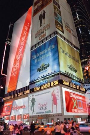 Walgreens' Time Square billboard.