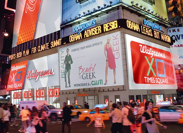 Walgreens' Time Square billboard.