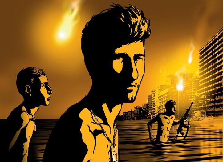 Image from Ari Folman's new animated documentary Waltz With Bashir.