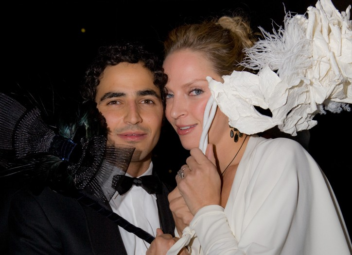 Zac Posen and Uma Thurman