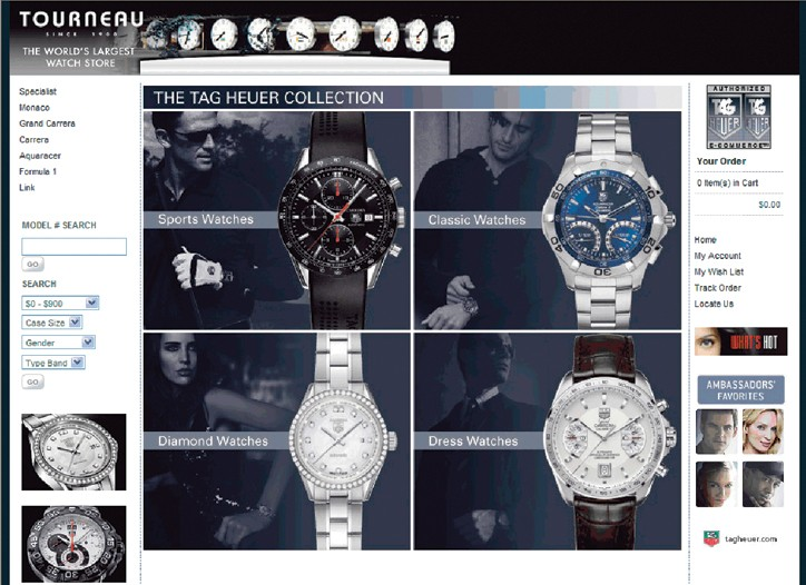 Tag Heuer will sell watches through its retailers' Web sites.
