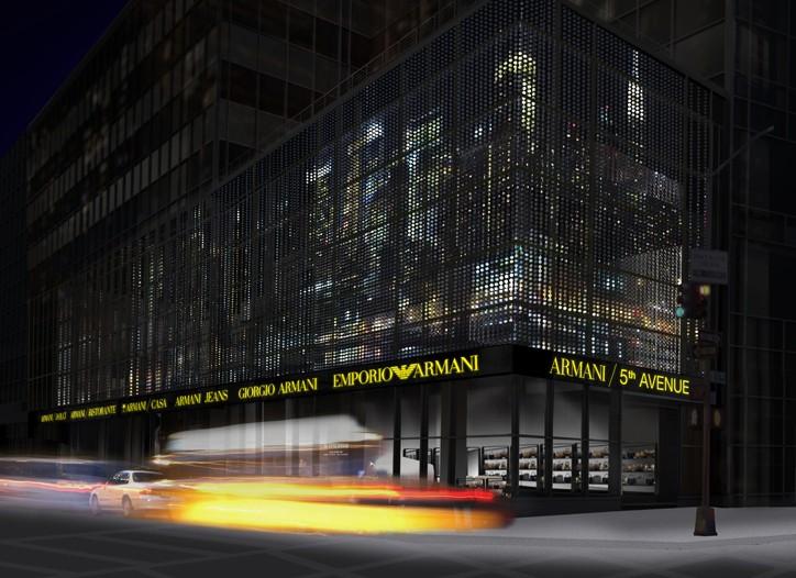 A rendering of the Giorgio Armani Fifth Avenue flagship.