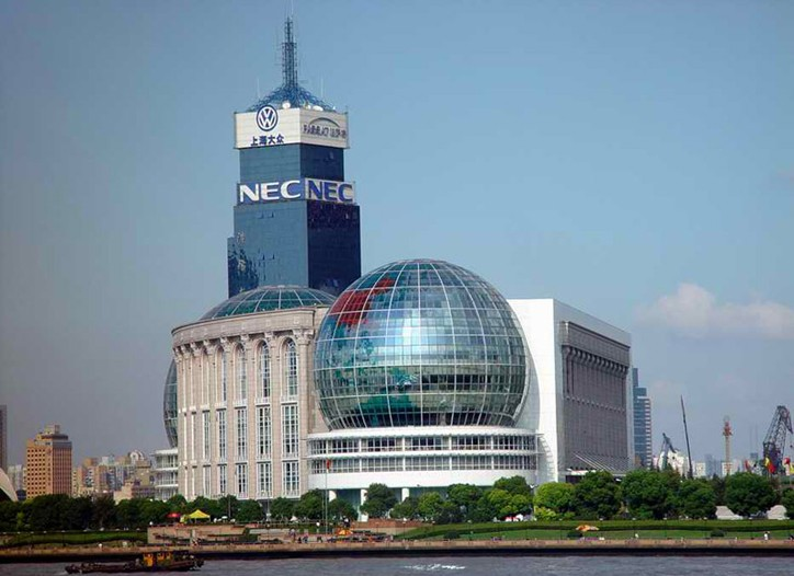 The New International Exhibition Center in Pudong, China.
