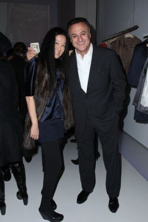 Vera Wang and Arthur Becker in the new store.