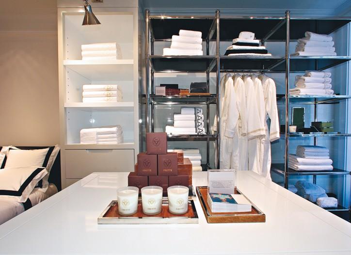 Frette's Madison Avenue flagship store.