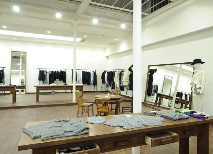 View of Limi Yamamoto's Paris boutique.