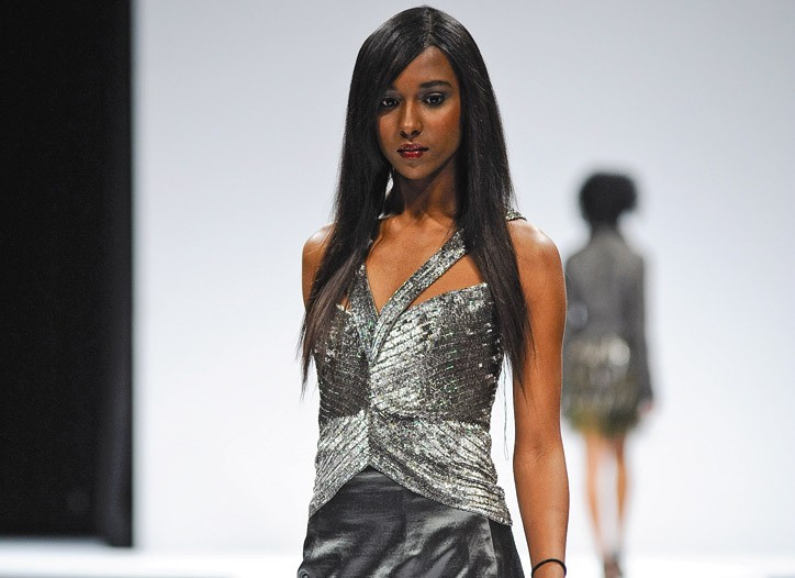 A look from Maria Pinto's collection that she showed during Fashion Focus.