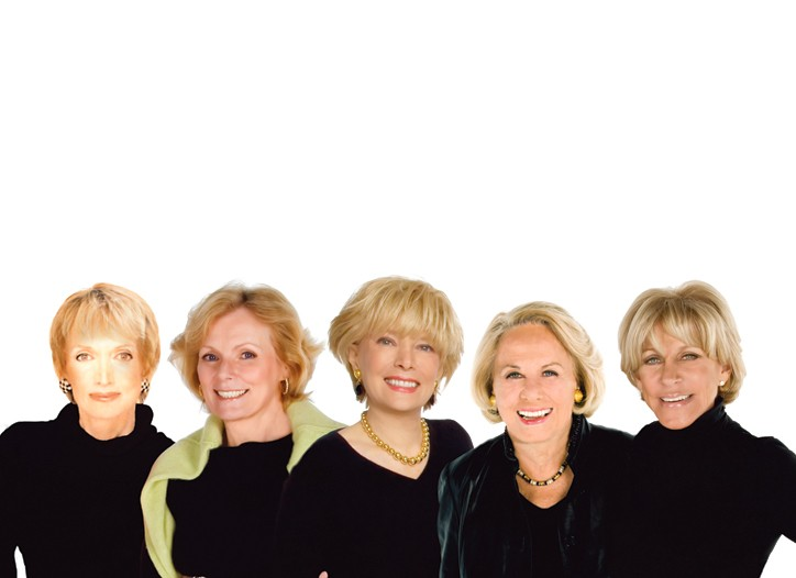 Some of the founders of Wowowow: Mary Wells, Peggy Noonan, Lesley Stahl, Liz Smith and Joni Evans.
