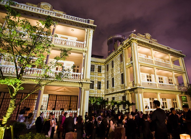 Twin villas in Shanghai house Dunhill and Vacheron Constantin flagships, as well as the  ShanghArt art gallery.