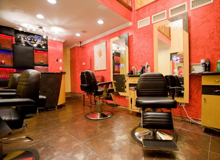 Inside a Reamir barbershop.
