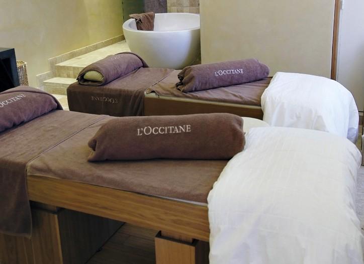 Inside L'Occitane's first spa in Paris.
