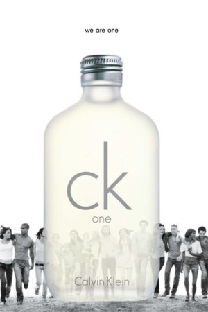 An ad visual for CK One.