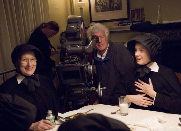 Roger Deakins on the set of Doubt.
