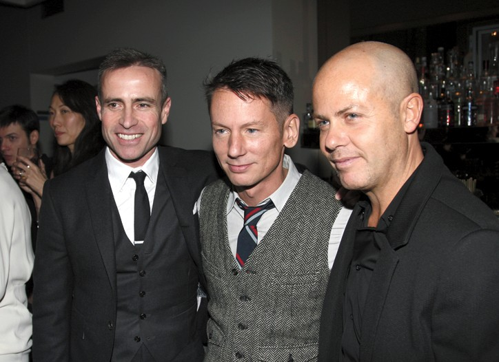 GQ's Jim Nelson with Thom Browne and Italo Zucchelli.