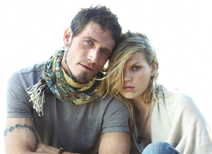 Ben Taylor and Alexandra Richards in the Lucky Brand campaign.