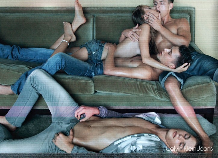 An image from the Calvin Klein Jeans campaign.