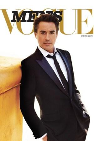 Robert Downey Jr. on the Men's Vogue cover.