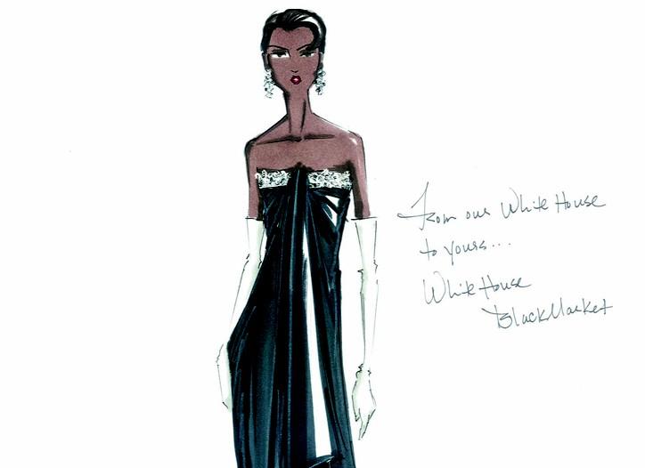 White House | Black Market inaugural sketch for Michelle Obama.