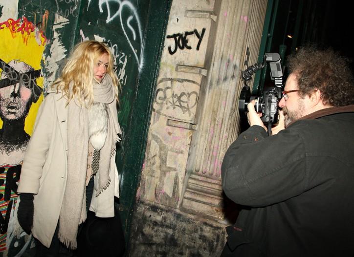 Mike Figgis shoots Melissa Bent outside the Prada store…