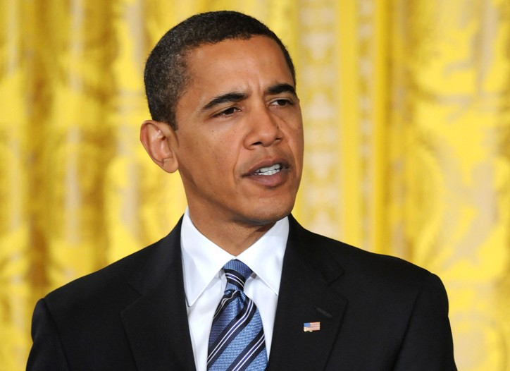 President Obama touts the recovery package on Wednesday.