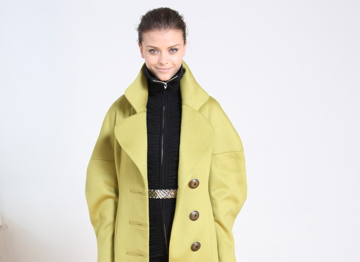 Nicole Miller Chartreuse RTW Fall 2009