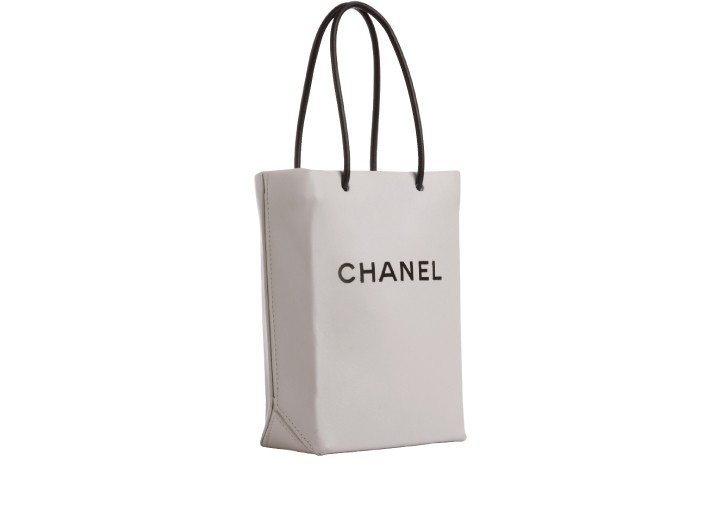 Karl Lagerfeld's witty Rue Cambon totes, leather versions of the brand's shopping bags.
