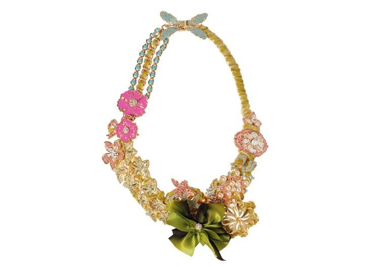 Roxanne Assoulin for Lee Angel Swarovski necklace