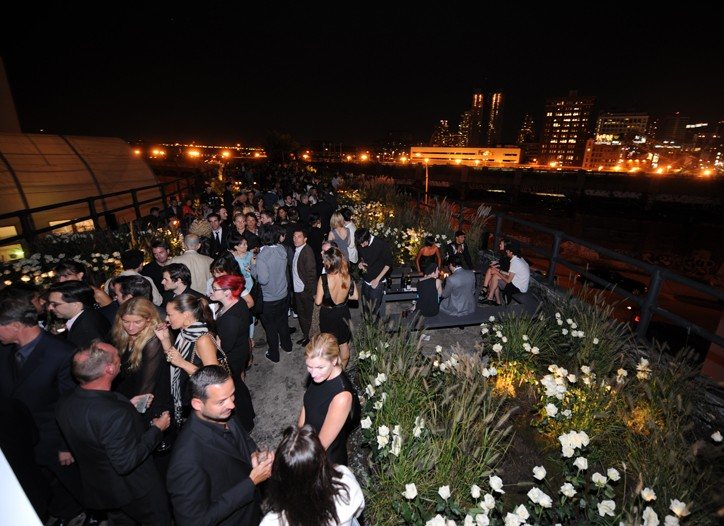 The Calvin Klein 40th anniversary party at the High Line in September.