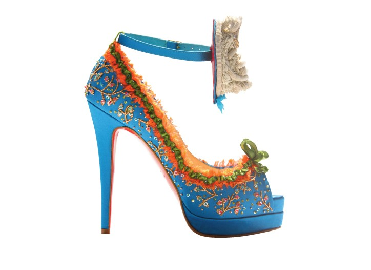 The Marie Antoinette shoe by Christian Louboutin.