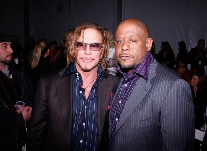 Mickey Rourke and Forest Whitaker