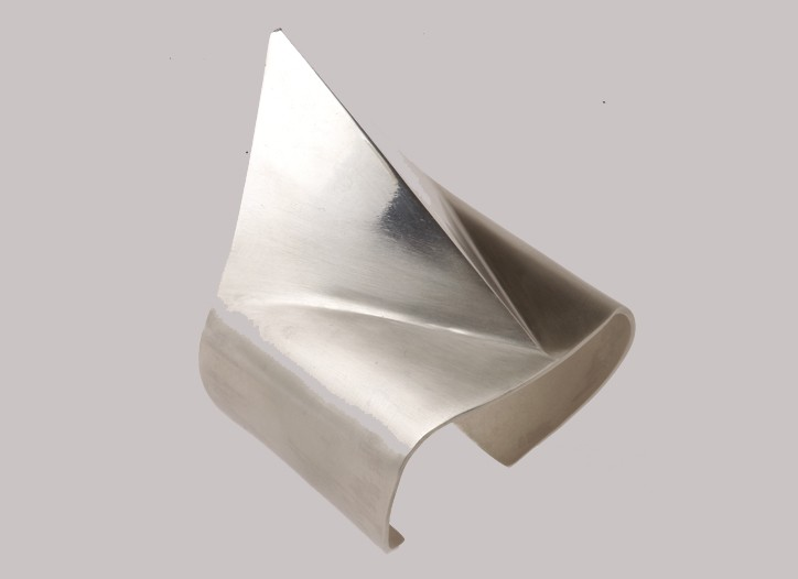A silver cuff with diamond tip from Abraxas Rex for Alexander Wang.
