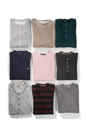 Left to right, top to bottom: S2VS' cotton, White & Warren's , Victor Glemaud's , Fred Perry's , Splendid Mills' , Christopher Fischer's , Gilded Age's , Vince's l, Save Khaki's. (Thermals)