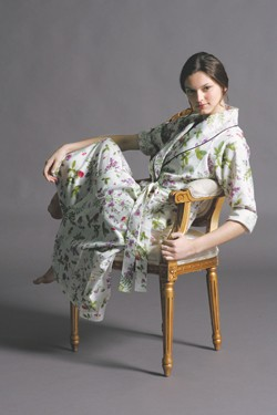 Crabtree and Evelyn's cotton sateen robe and cotton nightgown.