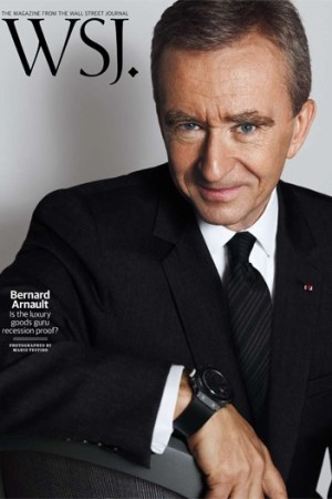 Bernard Arnault on the cover of WSJ.
