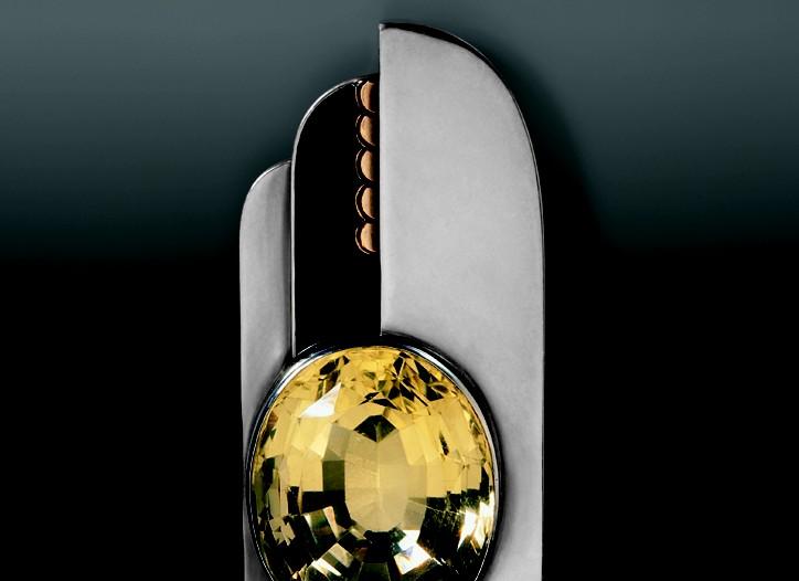 A 1930 silver brooch by Jean Després.
