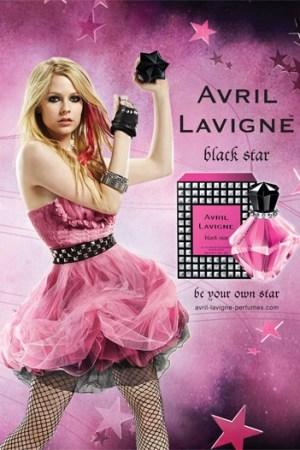 The ad campaign for Avril Lavigne's Black Star.